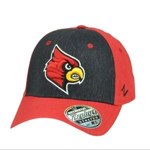 Louisville Cardinals Zephyrs Red Hat M/L Fitted